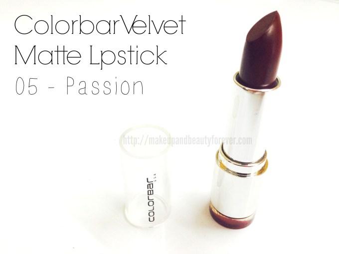 Colorbar Velvet Matte Lipstick – Passion Shade No. 5 Review