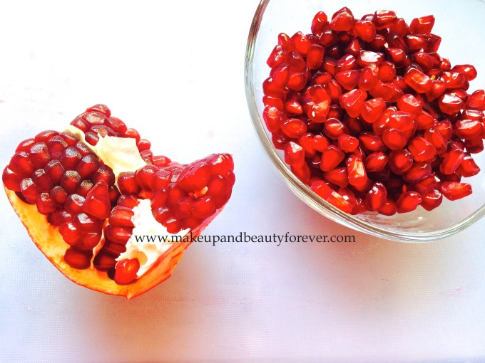 How to Get Glowing Skin at Home - Skin Brightening:Lightening Face Mask DIY with Pomegranate