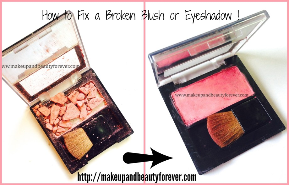 How to fix a broken blush or eyeshadow at home