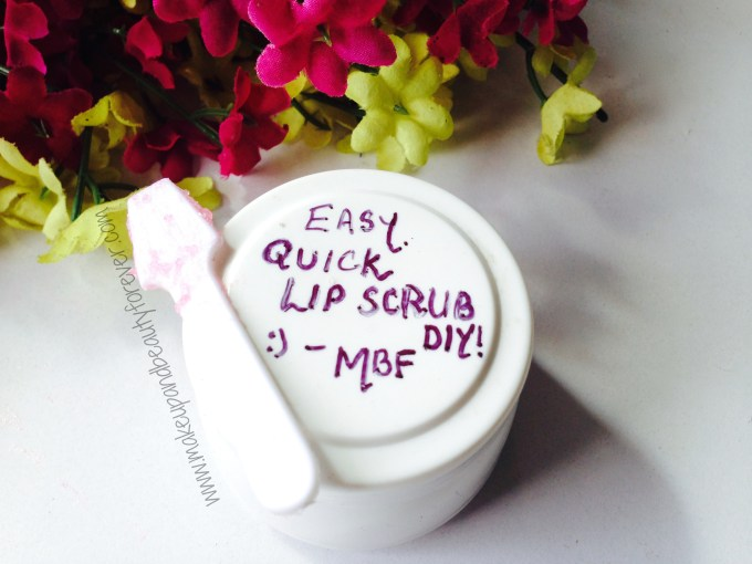 Easy Quick Lip Scrub DIY, Make your own Sugar Lip Scrub on the go