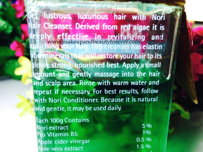 The Nature's Co Nori Hair Cleanser Review