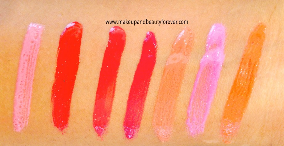 All Lakme Absolute Gloss Stylist Lip Gloss Review, Shades Swatches, Price and Details