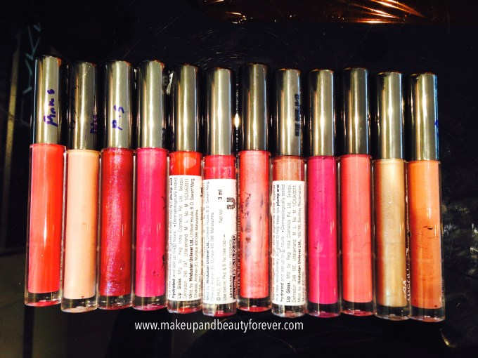 All Lakme Absolute Plump and Shine Lip Gloss 6 Hour 3D Gloss Review, Shades, Swatches, Price and Details