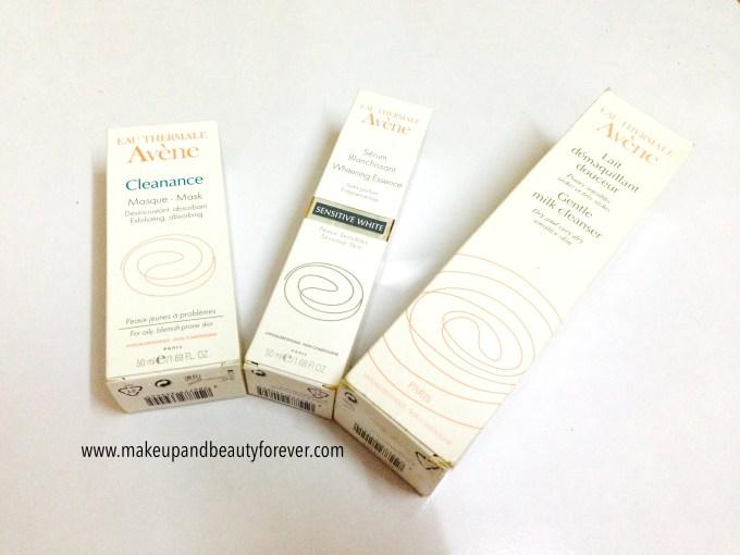 Avene Cleanance Masque Mask, Serum Blanchissant Whitening Essence, Gentle Milk Cleanser