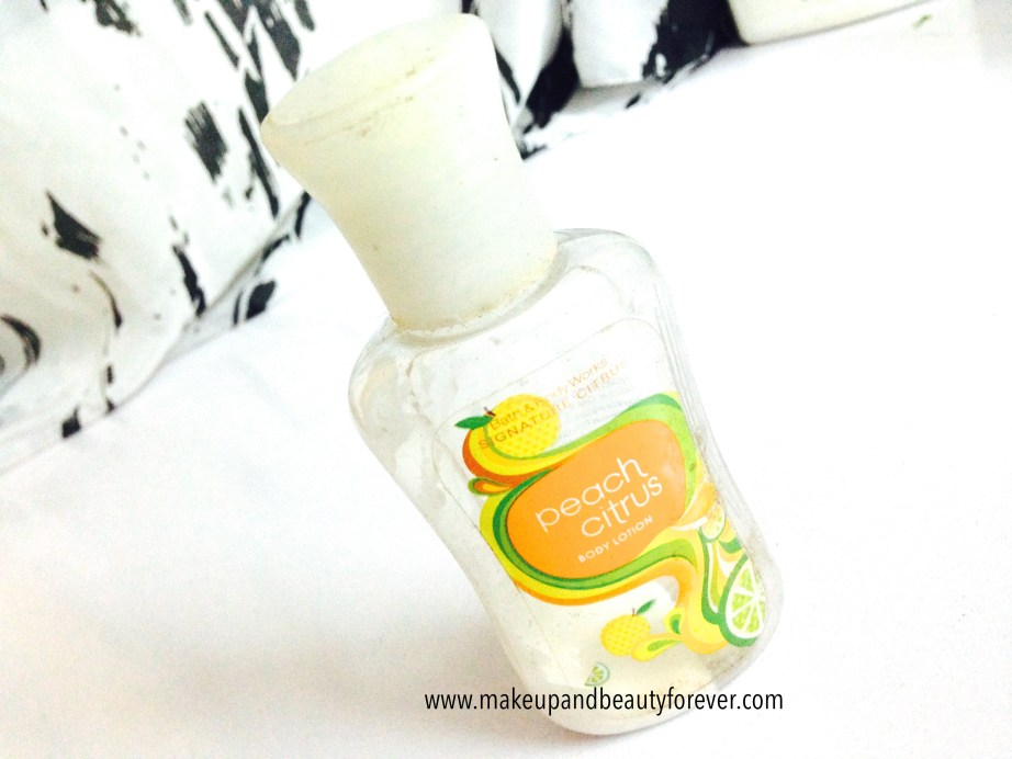 Bath and Body Works Peach Citrus Body Lotion Review India