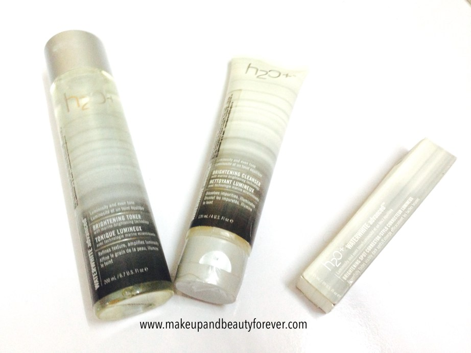 H2O Plus Waterwhite Advanced Brightening Toner, Brightening Cleanser, Brightening Spot Corrector