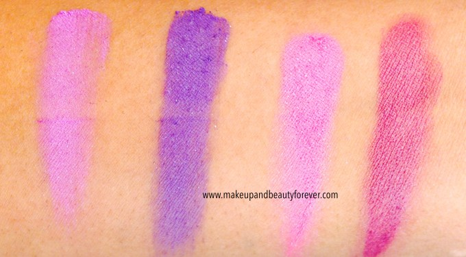 Lakme Absolute Drama Stylist Eye Shadow Duos Purple Haze and Pink Wink Review Swatches Price Details