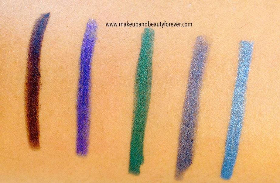 Lakme Absolute Forever Silk Eye Liner swatches Shades Available in India