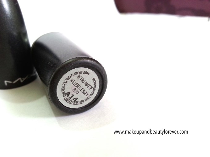 MAC Relentlessly Red Retro Matte Lipstick Review, Swatches