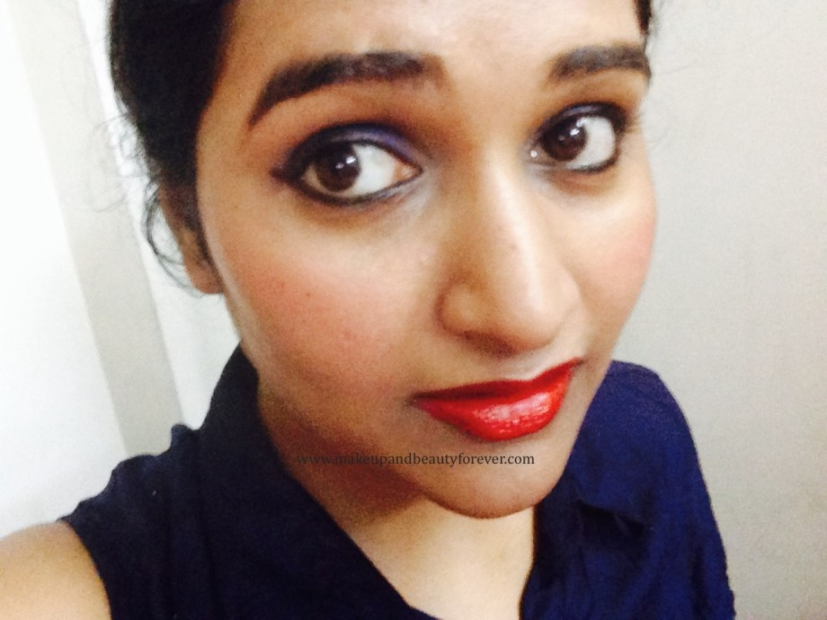 Maybelline ColorShow Lipstick Red Rush 211 Review, Swatch, Price, FOTD Dr Astha