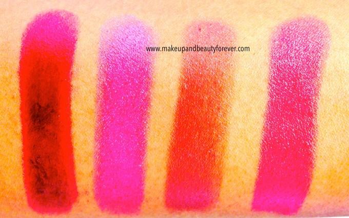 Maybelline The Jewels Color Sensational Lipstick Refined Wine 82, Rose Quartz 1432, Crazy for Coffee 275, Hooked On Pink 65