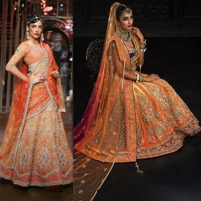 Tarun Tahiliani Bridal Orange Lehenga