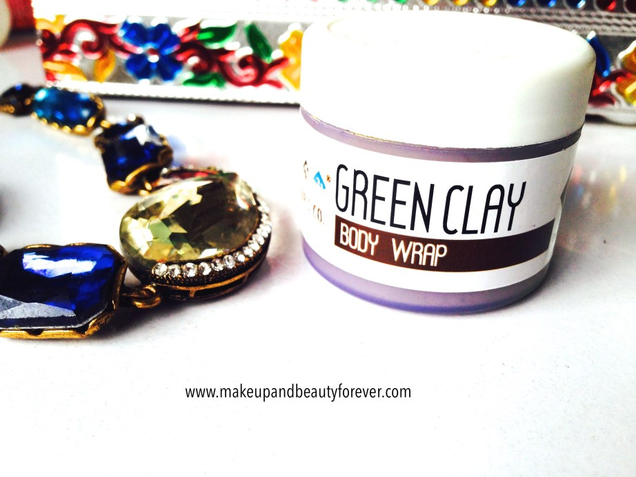 The Nature's Co Green Clay Body Wrap in Beauty wish box bridal bliss
