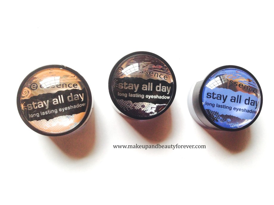 best Essence Stay All Day Long Lasting Eye Shadows