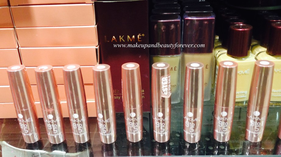 All Lakme 9 to 5 Crease less Lipsticks Review, Shades, Swatches, Price and Details