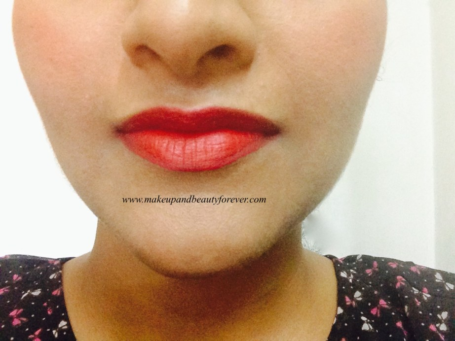 Colorbar Full Finish Long Wear Lipstick Get Ready 11 Review, Swatch, FOTD on lips