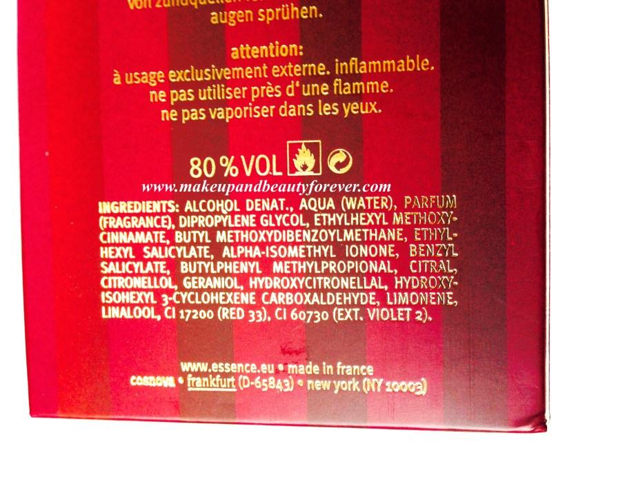 Essence Circus Circus Eau De Toilette Review ingredients