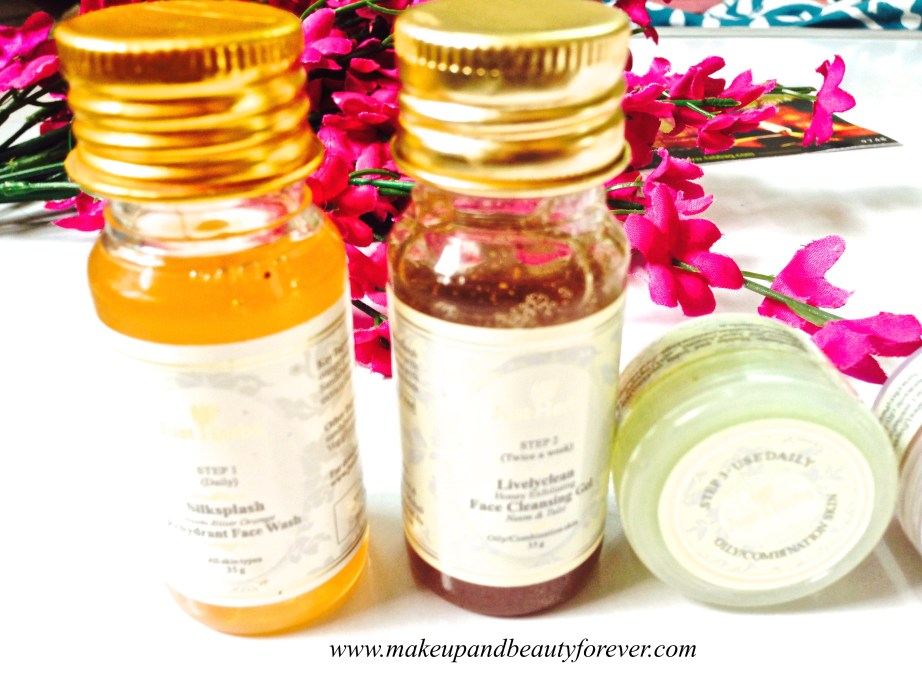 Just Herbs Silksplash Neem Orange Rehydrant Face Wash, Just Herbs Livelyclean Honey Exfoliating Face Cleansing Gel, Just Herbs Fagel Instant Glow All Purpose Beauty Gel October Fab Bag 2014 Diwali Special