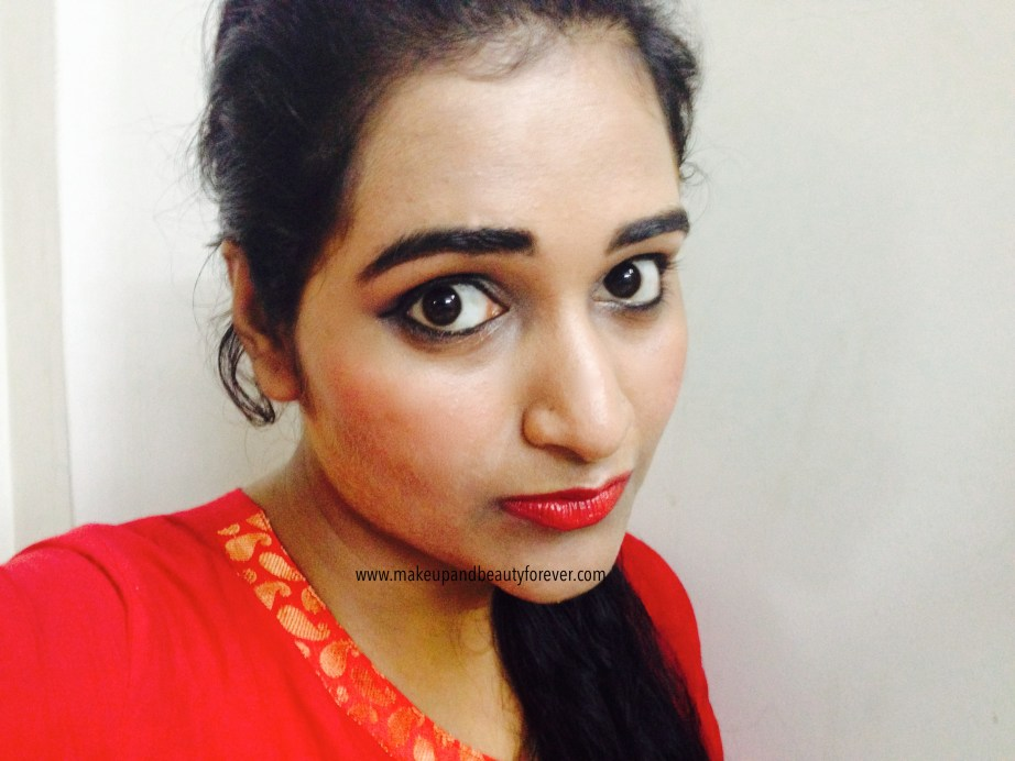 Maybelline ColorShow Lipstick Red My Lips 202 Review, Swatch, Price, FOTD Astha MBF India