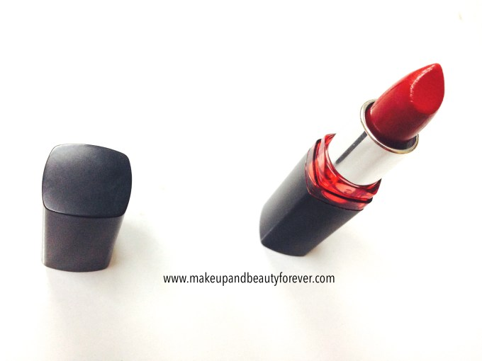 Maybelline ColorShow Lipstick Red My Lips 202 Review, Swatch, Price FOTD