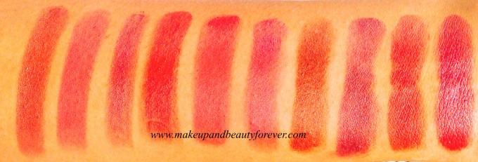 Revlon Super Lustrous Lipstick Wink For Pink  Rose and Shine  Peach Me Luminous Pink  Spicy Cinnamon Blushing Nude Blushed CHocolate Velvet Smoky ROse Champagne On Ice ROse Velvet Pink Velvet Caramel Glace