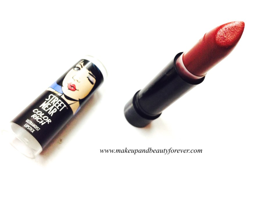 Street Wear Color Rich Ultramoist Lipstick Foxy Fantasy 5 Review, Swatch, FOTDs MBF India