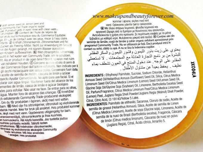 The Body Shop Sweet Lemon Body Scrub Review Details Description