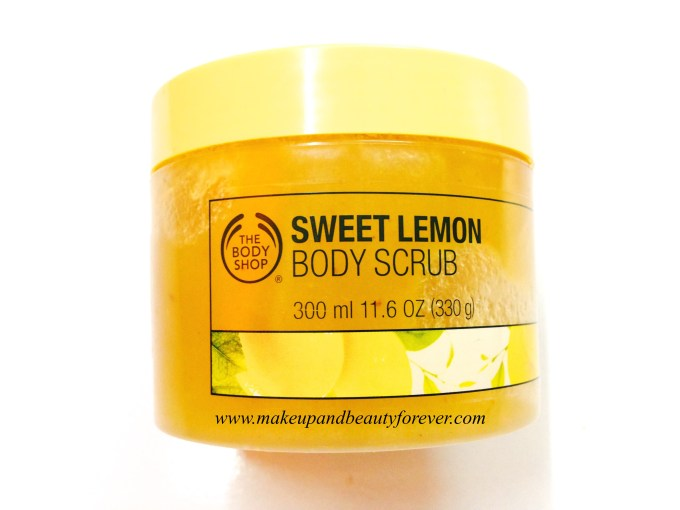 The Body Shop Sweet Lemon Body Scrub Review India