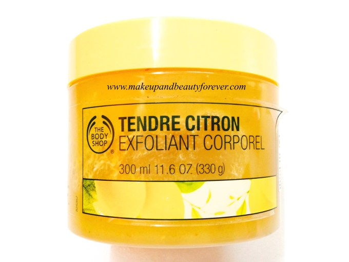 The Body Shop Sweet Lemon Body Scrub Review Makeup and beauty forever