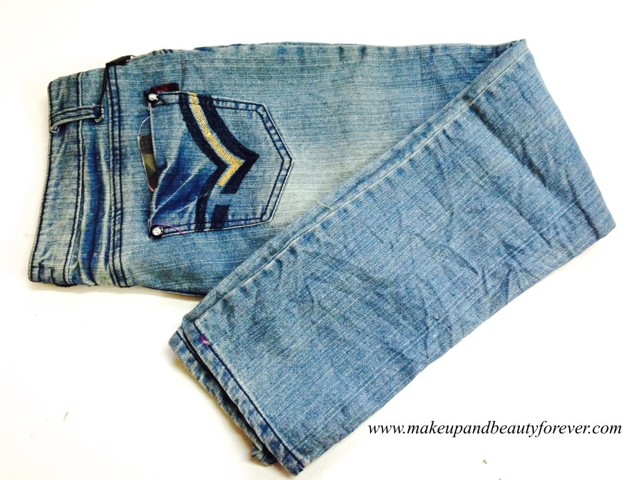 Blue Lee Cooper Jeans Crushed Pattern