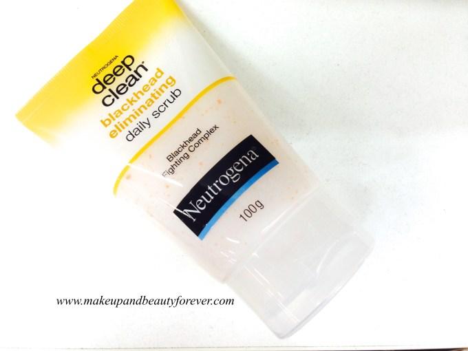 Neutrogena Deep Clean Blackhead Eliminating Daily Scrub Review India
