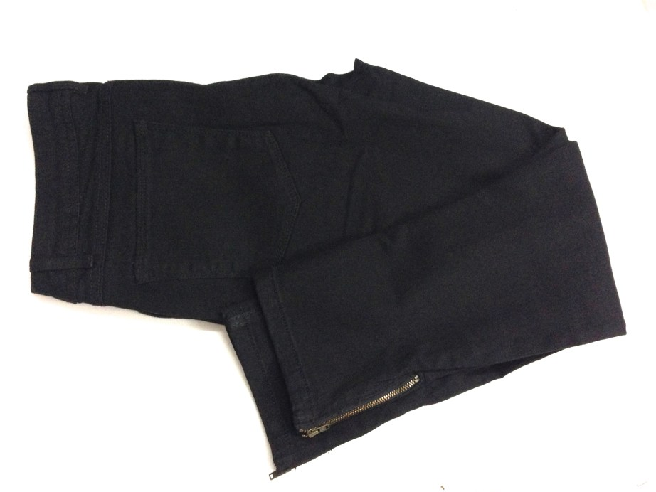 designer black jeans with side chain