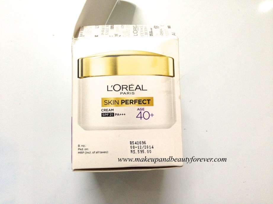 L'Oreal Paris Skin Perfect Anti-Aging + Whitening Cream For Age 40+ Review in India