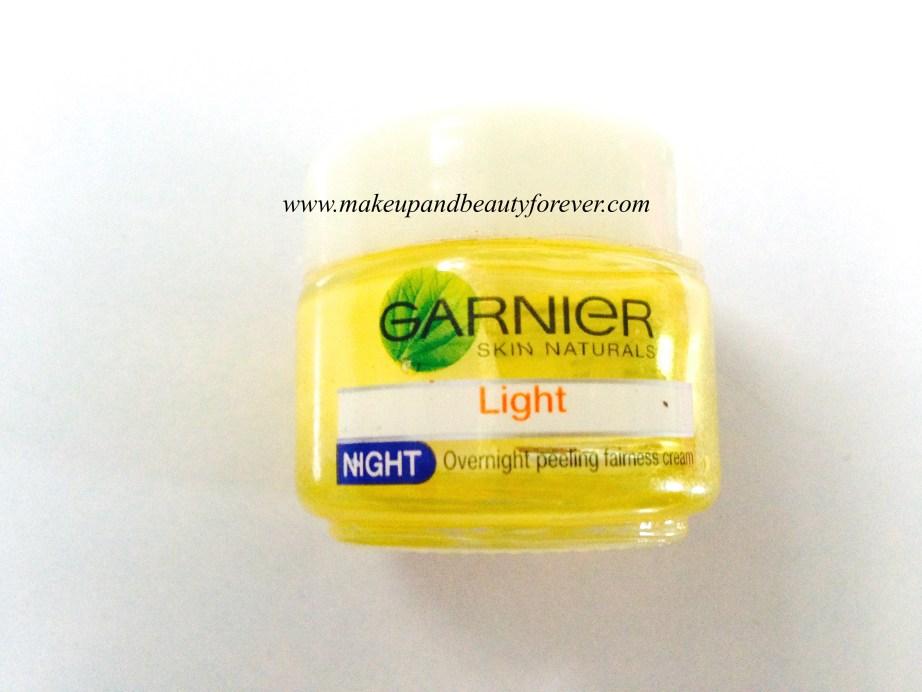 Garnier Skin Naturals Light Night Overnight Peeling Fairness Cream Review 2