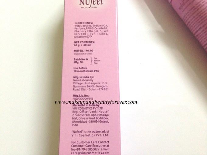 Nufeel Facial Spray for Women Review 3