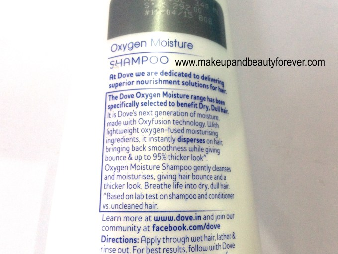 Dove Oxygen Moisture Shampoo Review 1