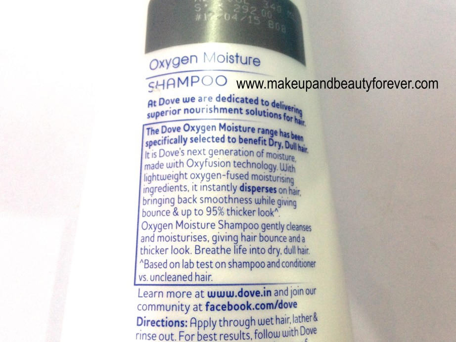 Dove Oxygen Moisture Shampoo Review 1