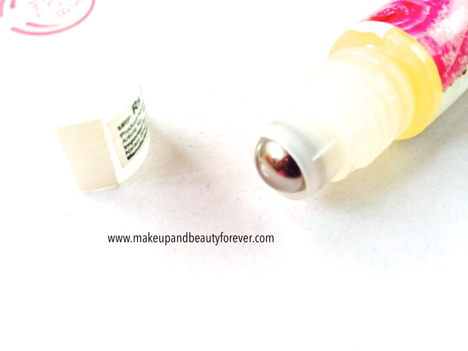 The Body Shop Natural Lip Roll On Rose metal roll on applicator
