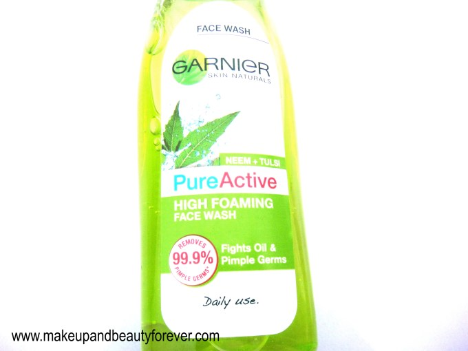 Garnier Pure Active Neem and Tulsi High Foaming Face Wash Review MBF