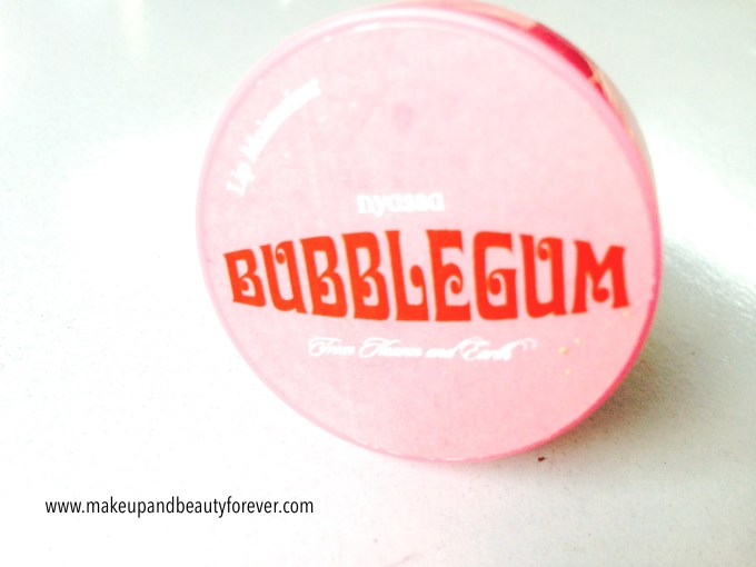 Nyassa Bubblegum Lip Balm Review Indian beauty Blog