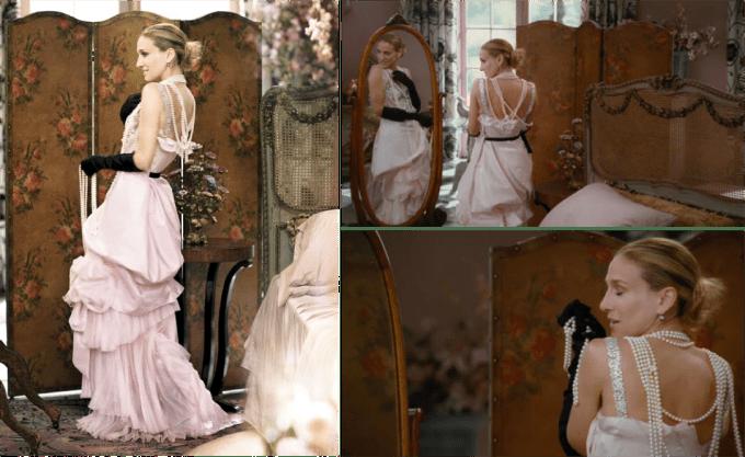 Carrie Bradshaw's Wedding Dress by Christian Lacroix vogue