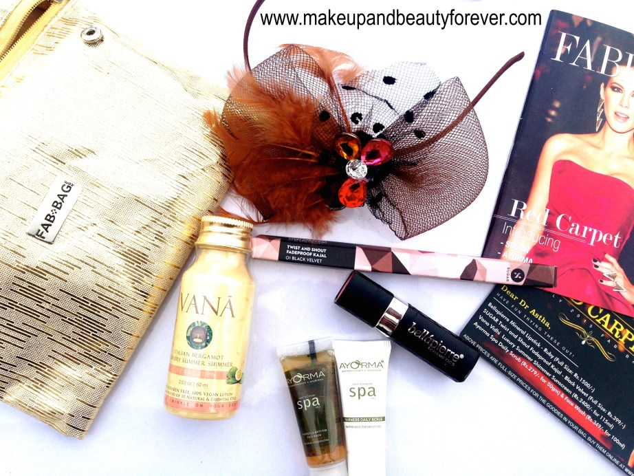 Fab Bag July 2015 Red Carpet Edition inside contents