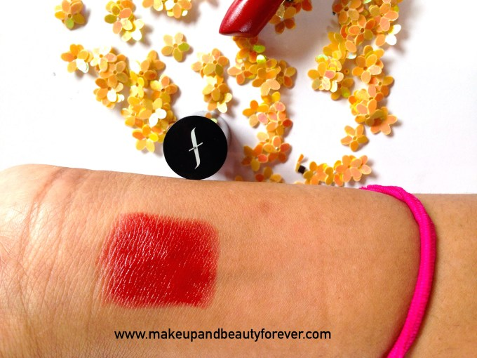 Faces Canada Go Chic Lipstick Poppy Red 411 Review Swatch