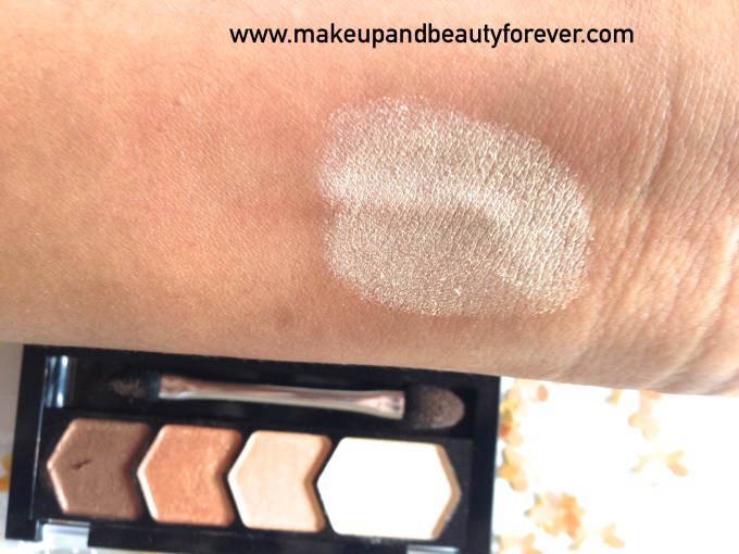 Maybelline Eyestudio Diamond Glow Eye Shadow Quad 01 Copper Brown Review Swatches Price Details beauty blog
