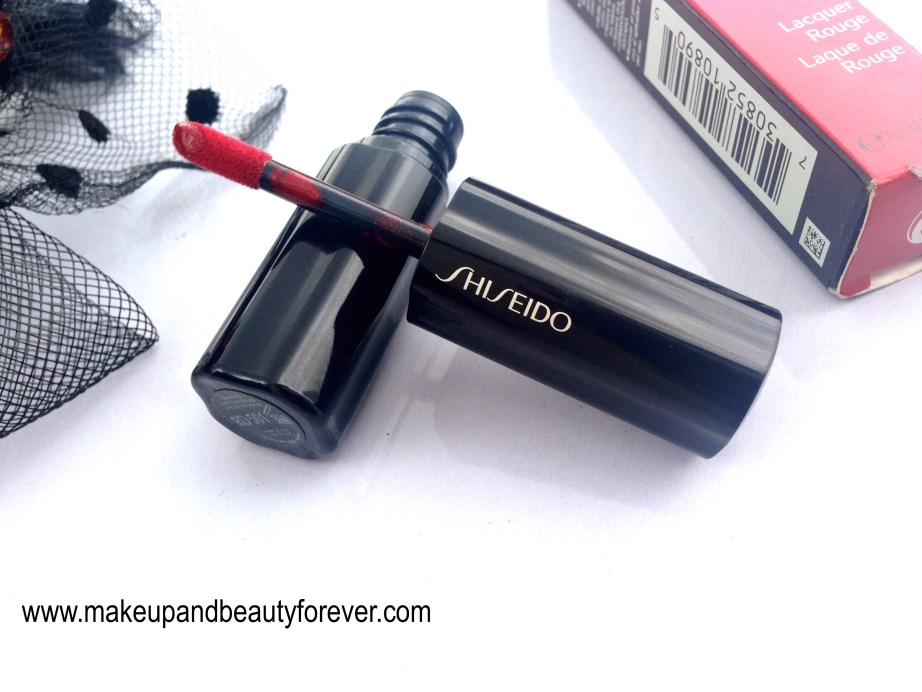 Shiseido Lacquer Rouge Liquid Lipstick Drama RD 501 Review Swatches Price LOTD