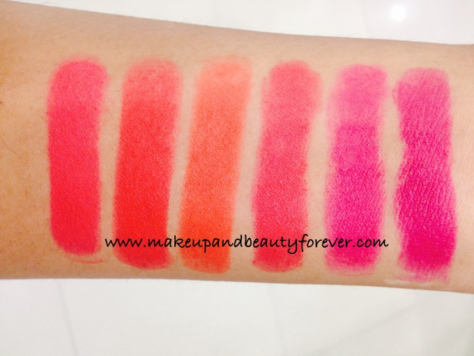 All Lakme Absolute Lip Pout Matte Lipstick Review Shades Swatches Victorian Rose Starlet Red