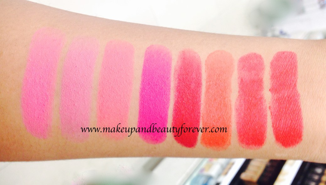 739d2678b All Maybelline Color Show Matte Lipstick Review Shades Swatches Price India  M201 Bold Crimson M202 Firecracker