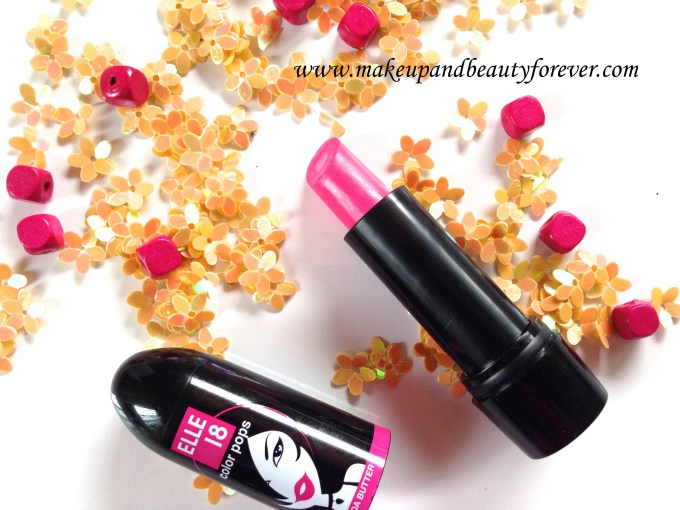 Elle 18 Color Pops Lipstick Wow Pink 51 Review Price Swatches Indian Beauty Blog