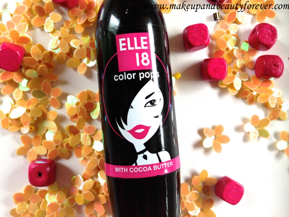 Elle 18 Color Pops Lipstick Wow Pink 51 Review Price Swatches Indian Makeup Blog