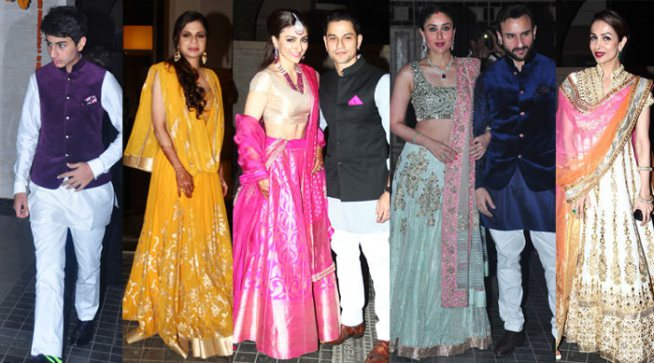 Ibrahim Ali Khan Saba Soha Ali Khan Kunal Khemu Wedding reception